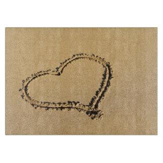 Romantic Heart on Beach Sand Photo Boards
