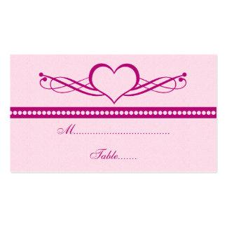 Romantic Heart Swirls Wedding Place Card Business Card Template