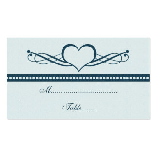 Romantic Heart Swirls Wedding Place Card Business Card