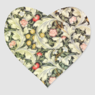 Romantic Heart Vintage Floral Heart Sticker