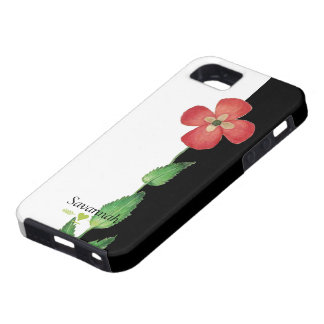 Romantic Heirloom Vintage Pansy Black and White iPhone 5 Covers