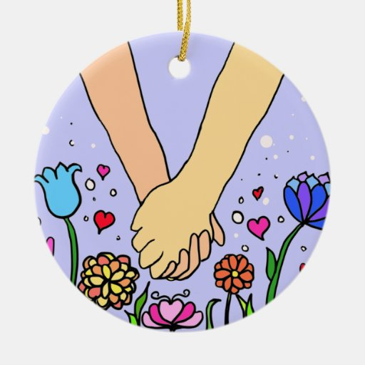 Romantic Holding Hands - dating / anniversary gift Christmas Ornaments