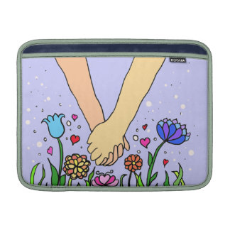 Romantic Holding Hands - dating / anniversary gift Sleeves For MacBook Air