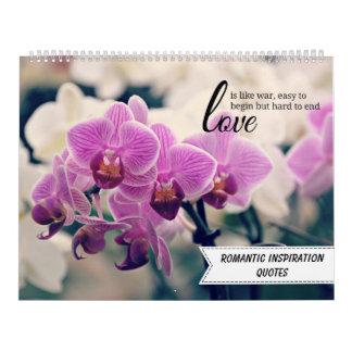 Romantic Inspirational Quotes Wall Calendar