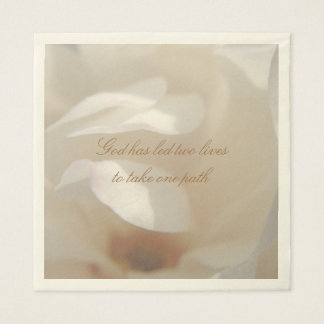 Romantic Ivory Magnolia Bridal Luncheon Napkin