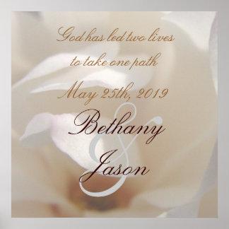 Romantic Ivory Magnolia Bridal Poster