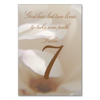 Romantic Ivory Magnolia Table Number