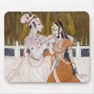 Romantic Krishna and Radha Mouse Pad
