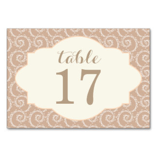 Romantic Lace Table Card