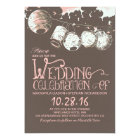 romantic lantern lights vintage wedding invitation