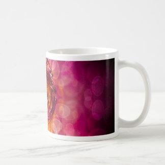 Romantic light,red mug