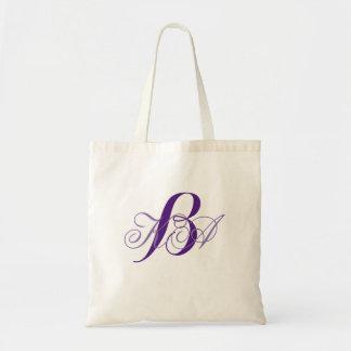 romantic lilac ombre purple monograms bridesmaid