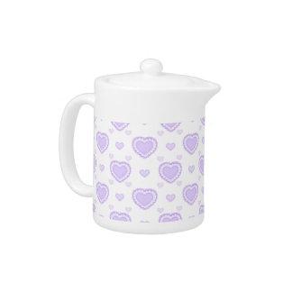 Romantic Lilac & White Hearts
