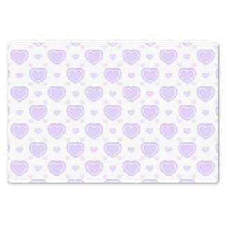 Romantic Lilac & White Hearts Tissue Paper