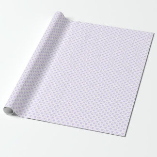 Romantic Lilac & White Hearts Wrapping Paper