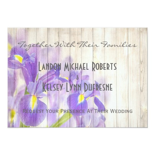 Romantic Lilies Rustic Wooden Fence Card