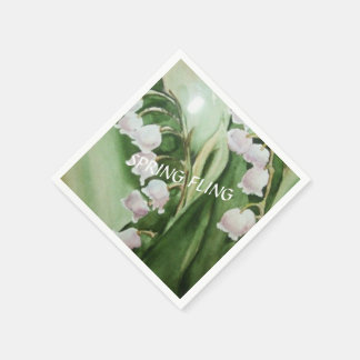 ROMANTIC LILY OF THE VALLEY PAPER NAPKINS