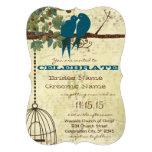 Romantic Love Bird Sitting In Tree Wedding Invite