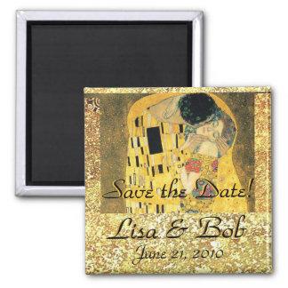 Romantic Love Klimt The Kiss Save the Date Magnet