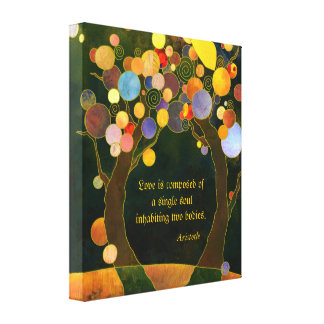Romantic Love Quote Wedding Gift Wrapped Canvas Gallery Wrapped Canvas