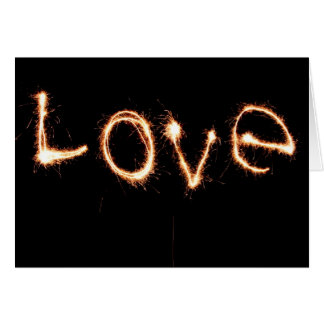 Romantic Love Sparklers Valentine's Day Card