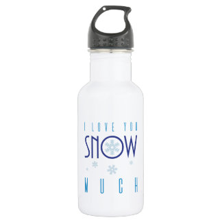 Romantic Love You Snow Much Winter Snowflake 532 Ml Water Bottle