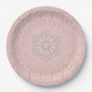 Romantic Mandala Pattern | Large Paper Plates 9 Inch Paper Plate