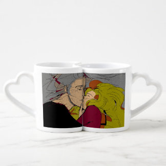 romantic manga art ( kiss ) coffee mug set