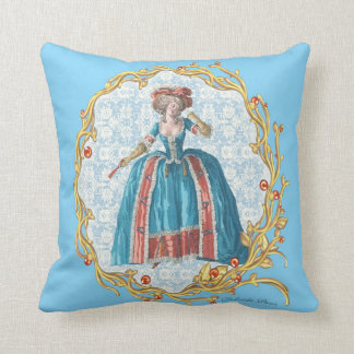 Romantic Marie Antoinette pillow Blue cushion B