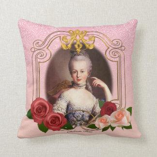 Romantic Marie Antoinette Throw Pillow Pink