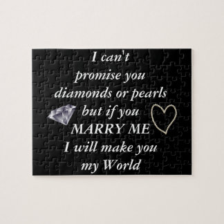Romantic Marry Me Poem Jigsaw Puzzle