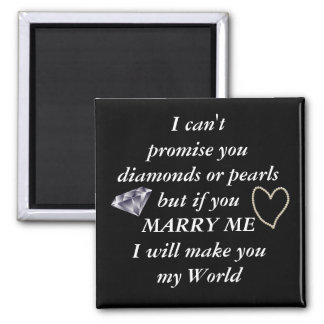 Romantic Marry Me Poem Magnet