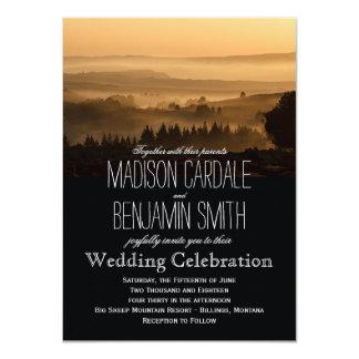 Romantic Misty Mountains Rustic Wedding Invitation