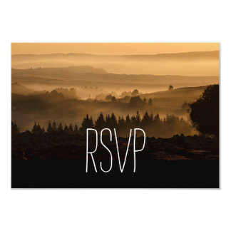 "Romantic Misty Mountains Rustic Wedding RSVP Cards 3.5"" X 5"" Invitation Card"