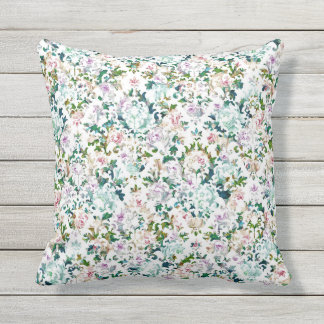 Romantic & Modern Floral Graphic Throw Pillow