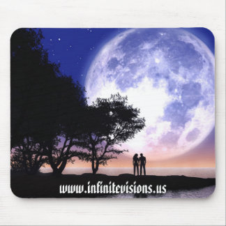 Romantic Moonlight Mouse Pad