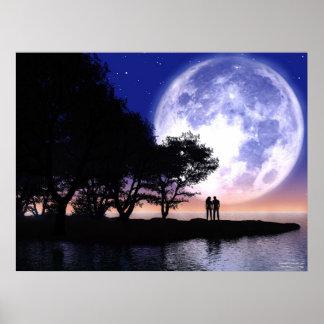 Romantic Moonlight Poster