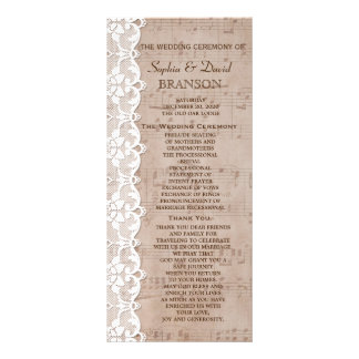 Romantic Music Sheet & Lace Wedding Program