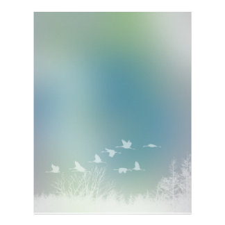 Romantic Nature and Bird Design Customized Letterhead