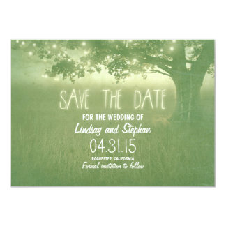 "romantic night lights rustic save the date cards 4.5"" x 6.25"" invitation card"
