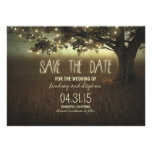 romantic night lights rustic save the date cards invitations