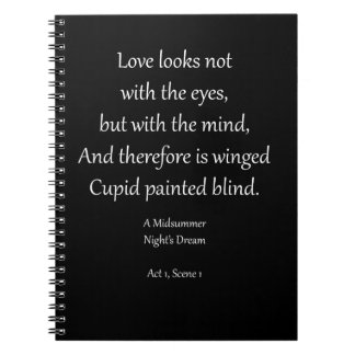 Romantic Ornaments & Gifts with Shakespeare Quotes Spiral Notebook