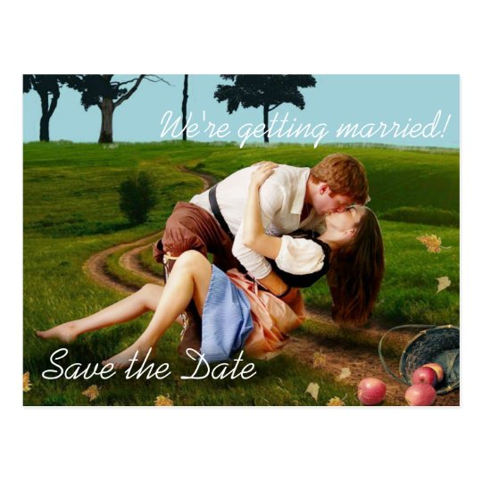 Romantic Outdoor Photo Save the Date Postcards