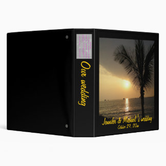 Romantic Palm Tree Beach Sunset Photo Album Binders