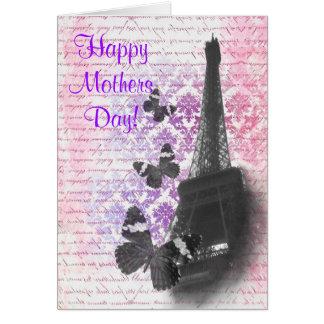 Romantic Paris  mothers day Card