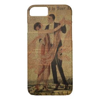 romantic Paris Wedding Waltz ballroom dancers iPhone 8/7 Case