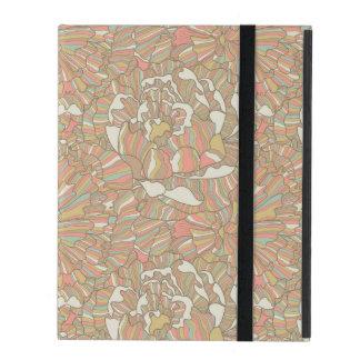Romantic pattern made of peony flowers iPad folio case