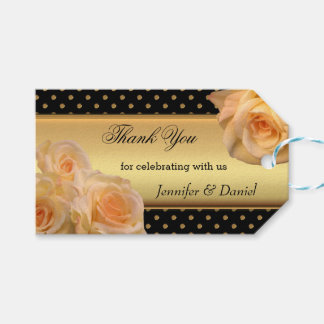 Romantic Peach Rose Gift Tag