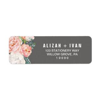 Romantic Peony Flowers | Gray Wedding