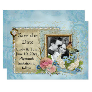 Romantic Photo Save the Date Card